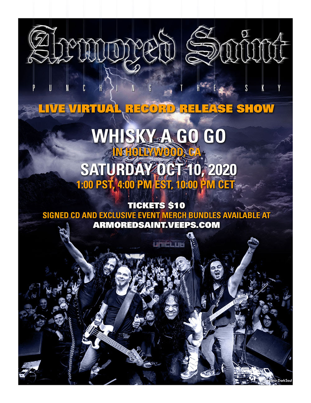 """Armored Saint hosts live, virtual album release show for Video for """"Punching The Sky"""" CD Release Virtual Live Online Show"""